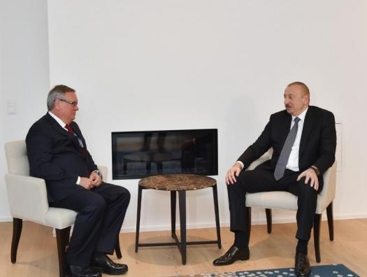 Ильхам Алиев в Давосе