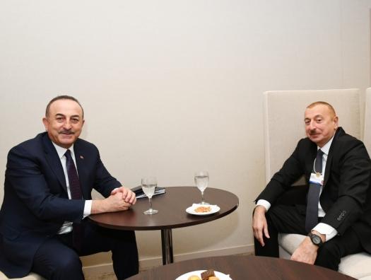 Чавушоглу на встрече с Ильхамом Алиевым