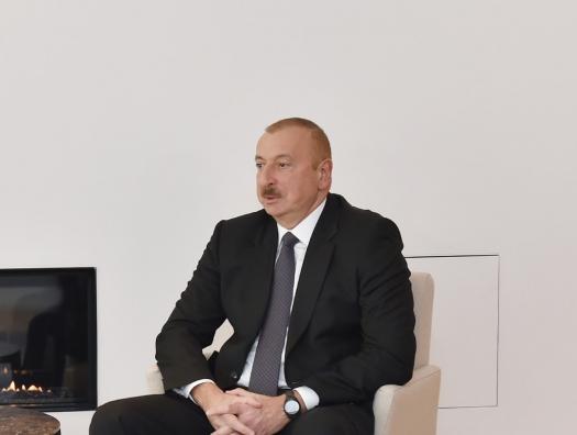 Ильхам Алиев о перспективе запуска российского газа по азербайджанской трубе