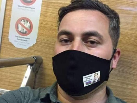 МВД о задержанном Мамедзаде с фотографией Расулзаде на маске