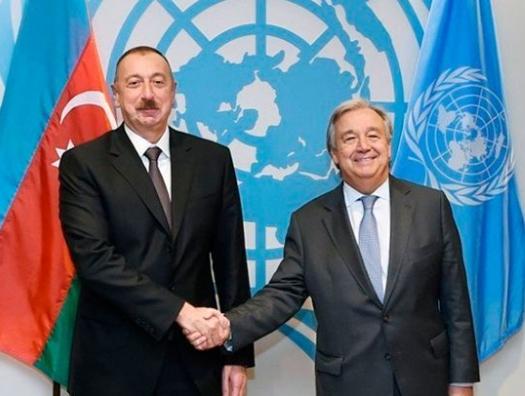Ильхам Алиев позвонил генсеку ООН