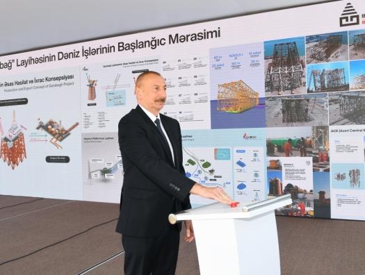 """На месторождение """"Карабах"""" отправили опорный блок"""