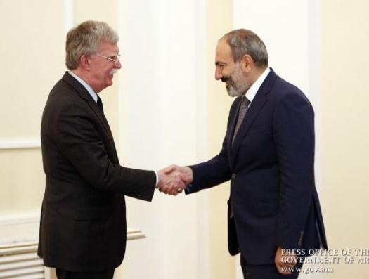 Болтон признался: «Пашинян не оправдал ожиданий США»