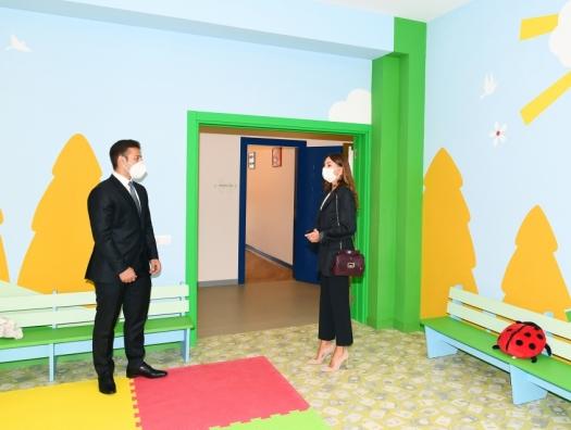 Мехрибан Алиева на открытии нового детского сада в Баку