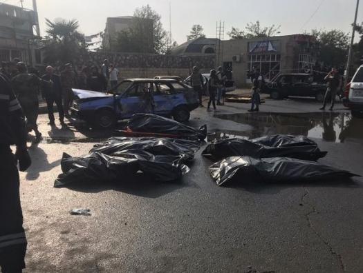 Террористический удар по Барде. Армения обстреливает людей реактивными ракетами