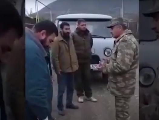 Уникальные видеокадры: азербайджанские военнослужащие пришли на помощь карабахским армянам