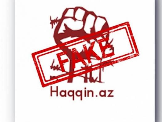 Армяне продолжают рассылать провокационные сообщения от имени haqqin.az