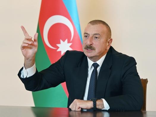 Ильхам Алиев: «Если Шуша - армянский, то почему армяне разрушили этот город?»
