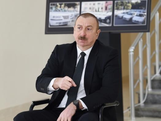 Ильхам Алиев заявил, что союзники Армении хотят возродить армянскую армию