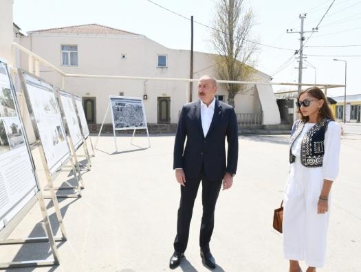 Ильхам и Мехрибан Алиевы в Пиршаги