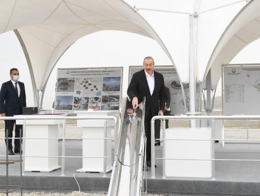 Алиевы заложили фундамент нового Туристического комплекса грязевых вулканов
