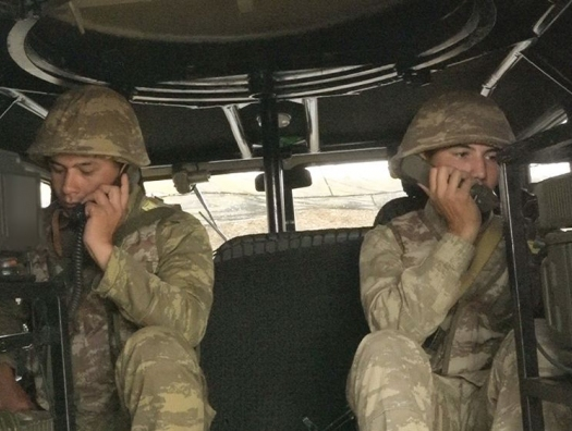 Связисты Нахчыванского гарнизона проводят учения