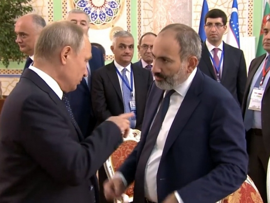 Кремль: Путин сказал Пашиняну - не стрелять