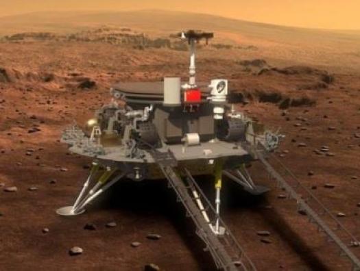Китайский аппарат осуществил успешную посадку на поверхность Марса