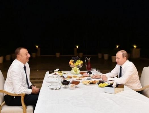 Общие свершения и победы Ильхама Алиева с Владимиром Путиным
