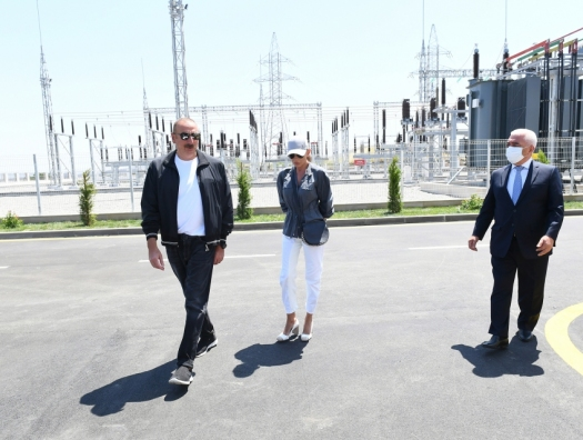 Ильхам Алиев на открытии подстанций «Физули» и «Шукюрбейли»