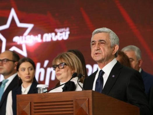 Блок Саргсяна заявил о массовых нарушениях на выборах в Армении