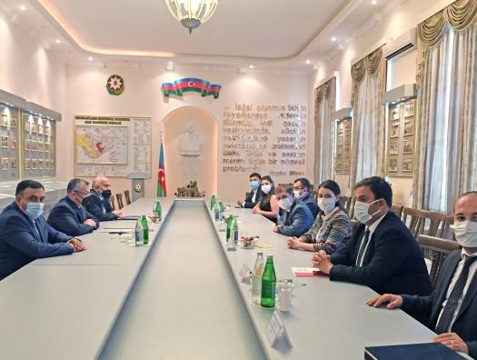 Делегация турецких медиков на встрече с Ровшаном Рзаевым