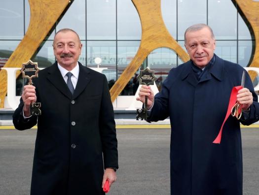 Ильхам Алиев и Эрдоган открыли Международный аэропорт Физули