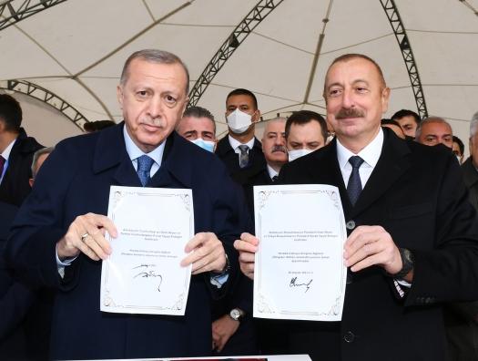 Алиев Эрдогану: «Вы проделали большую работу для нашей победы»