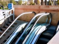 Только в Баку: Подземный переход превратили в стройку (видео)