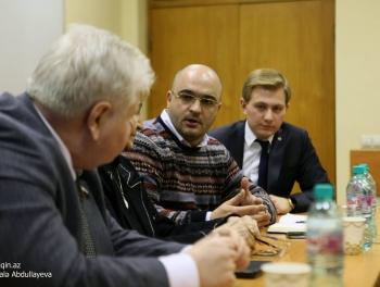 Авторы haqqin.az на встрече со студентами Президентской академии России